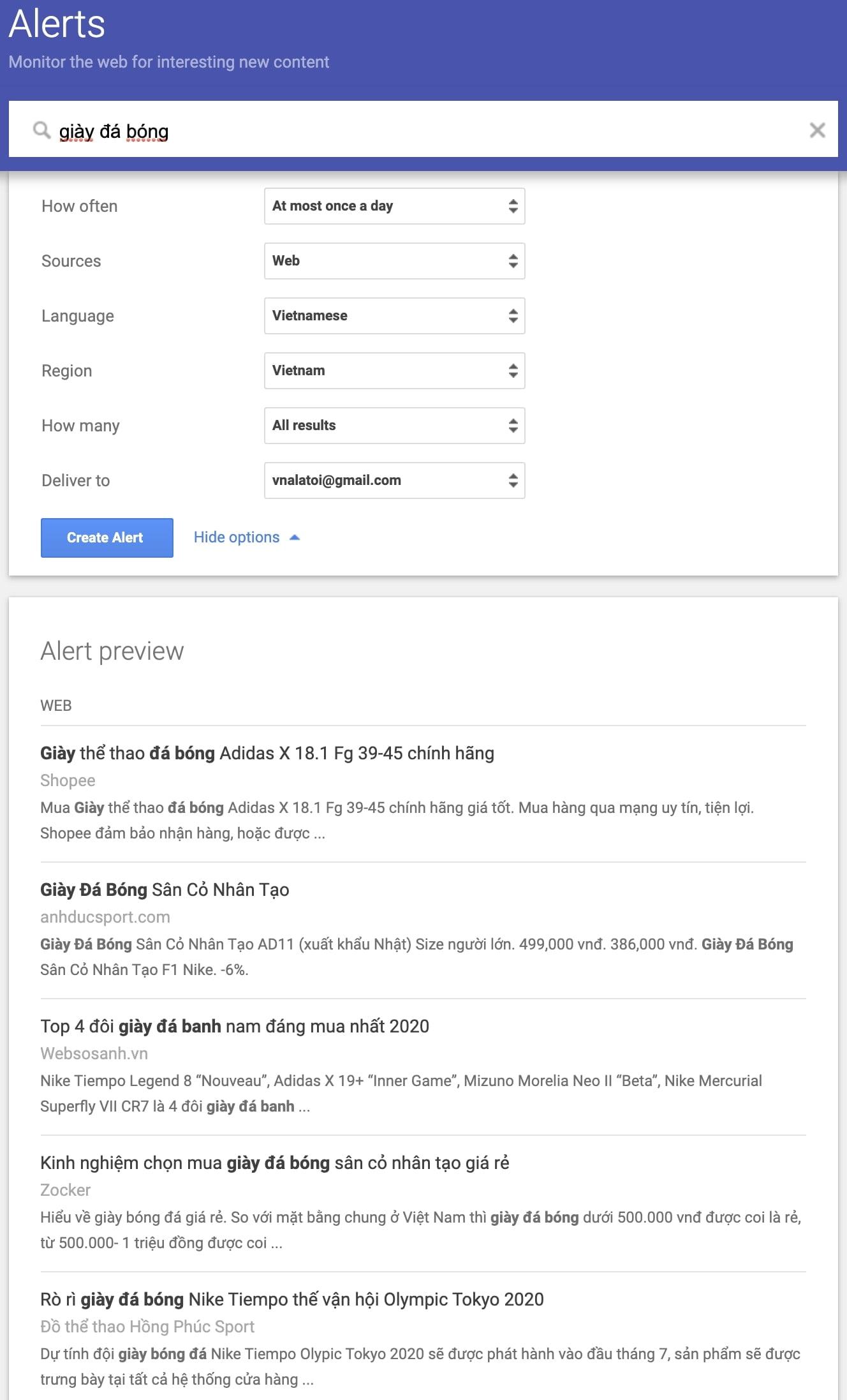 Google Alerts là gì? Hướng dẫn sử dụng Google Alerts từ cơ bản đến nâng cao 1