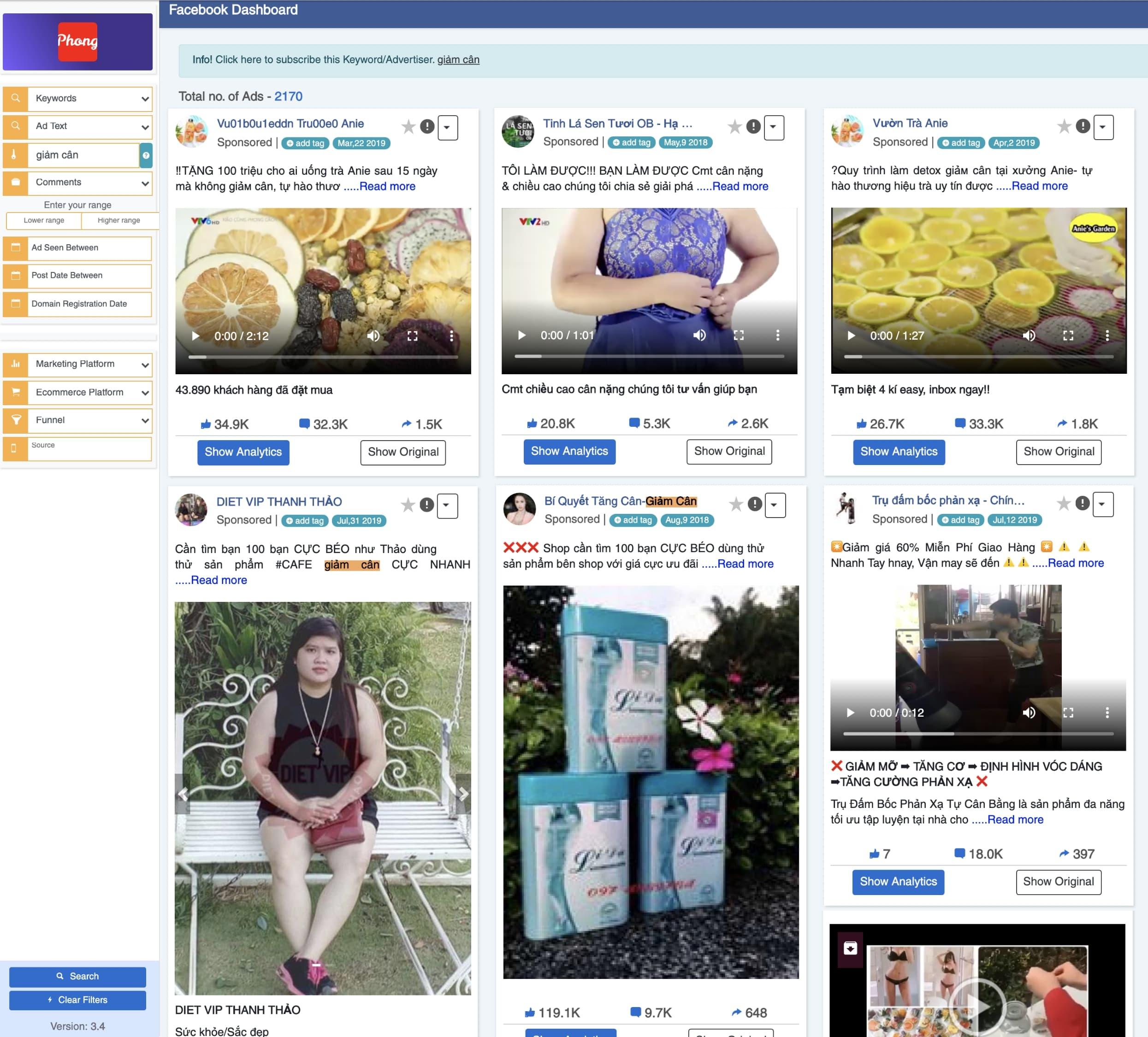 tim bai quang cao facebook