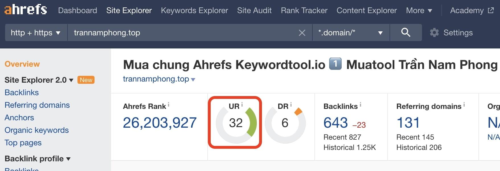 Mua Ahrefs để tìm Domain cho PBN